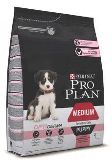 Корм для собак ПРО ПЛАН для щенков средних пород с чувствительной кожей Лосось