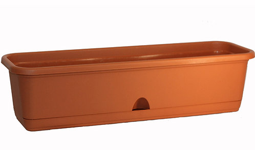 Балконный ящик ЛАМЕЛА 60см терракот М3221