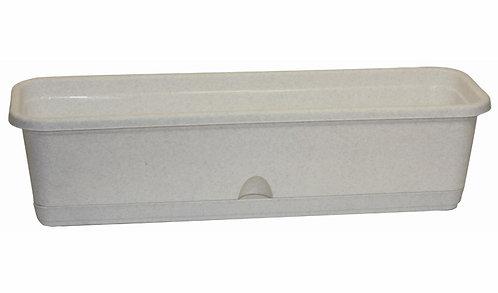 Балконный ящик ЛАМЕЛА 60см с поливом мрамор М3221