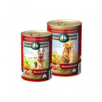 Корм для собак Верные друзья 415гр СОУС мясное ассорти