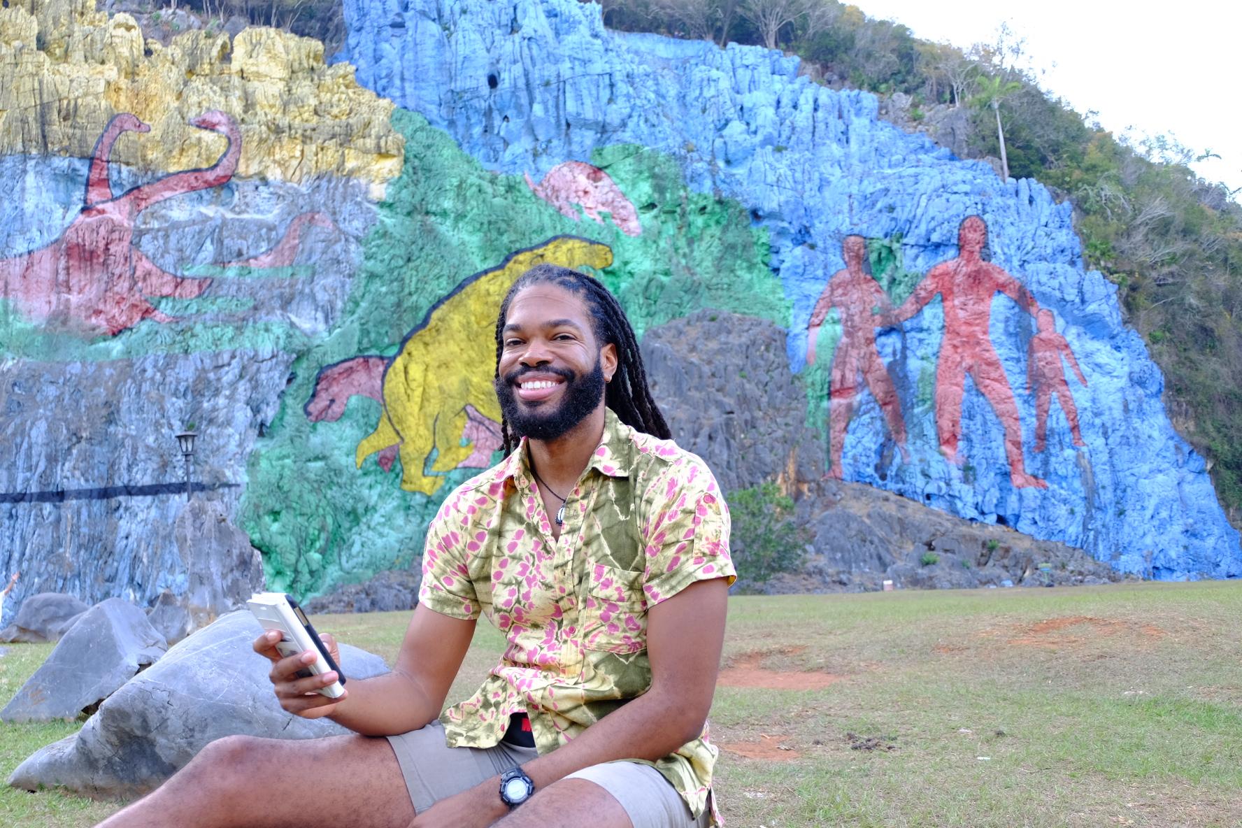 Selfie at Mural de la Prehistoria