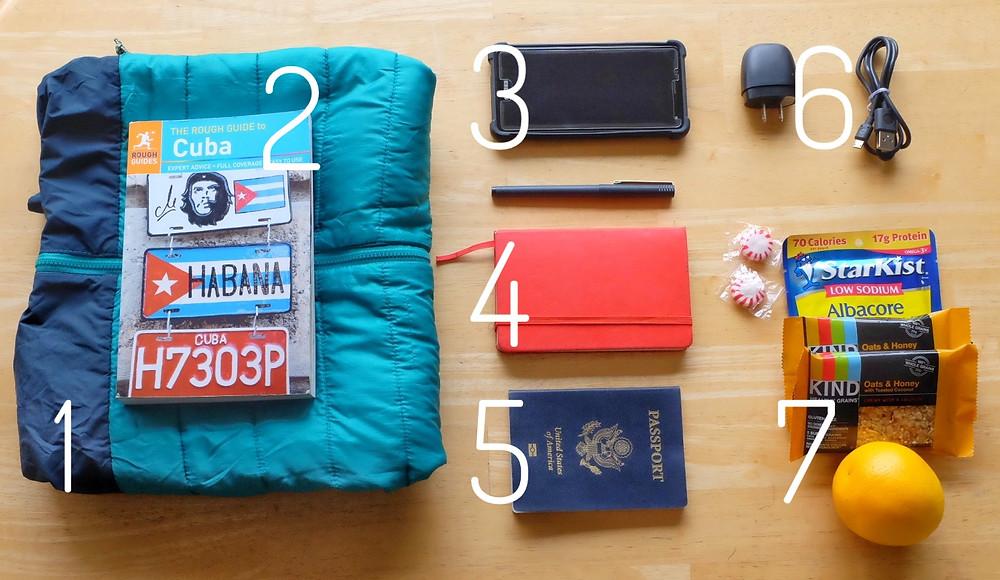 Seven in-flight travel essentials.