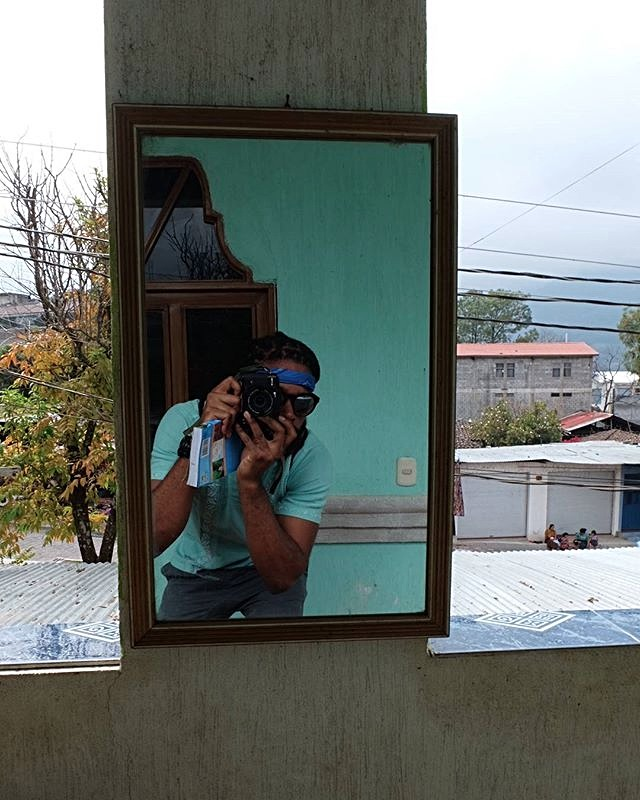 Epic travel selfie that one time at #lagoatitlan in #guatemala. Posing with my _roughguides_edited