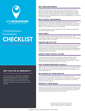 Travel Emergency Preparedness Checklist.