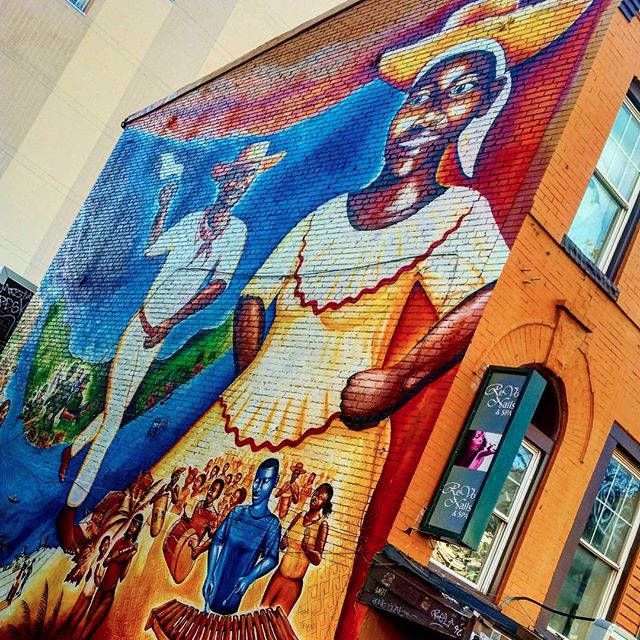 Mural memorial for AfroColombians