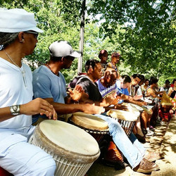 Drum Circle at Malcolm X Park