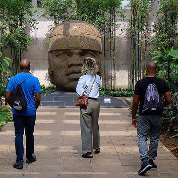 Our tour guide leads #AfroBuenaTrip part
