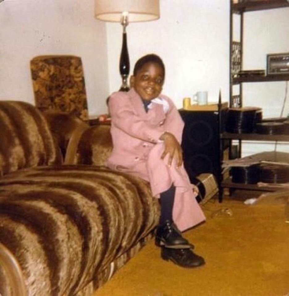 A young Christopher Wallace posing long before he became the Notorious B.I.G.