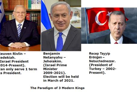 The Paradigm of 3 Modern Day Kings (Leaders) - Rivlin, Netanyahu, & Erdogan.