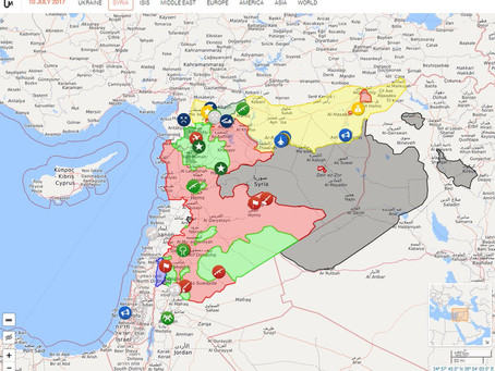 Real-time map of military events in Syria - watch Turkey.