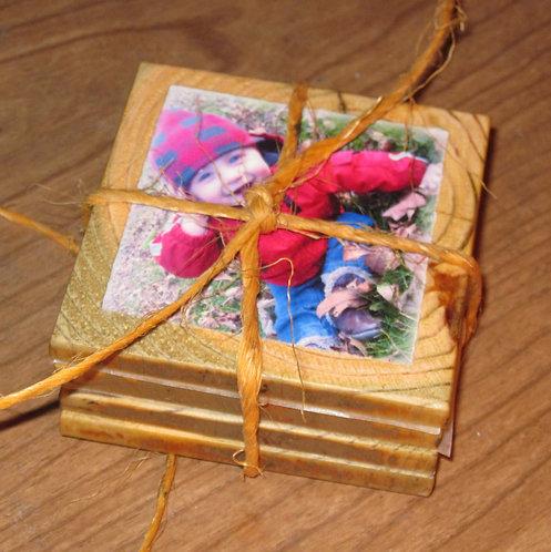 Photo Coasters- Barnwood