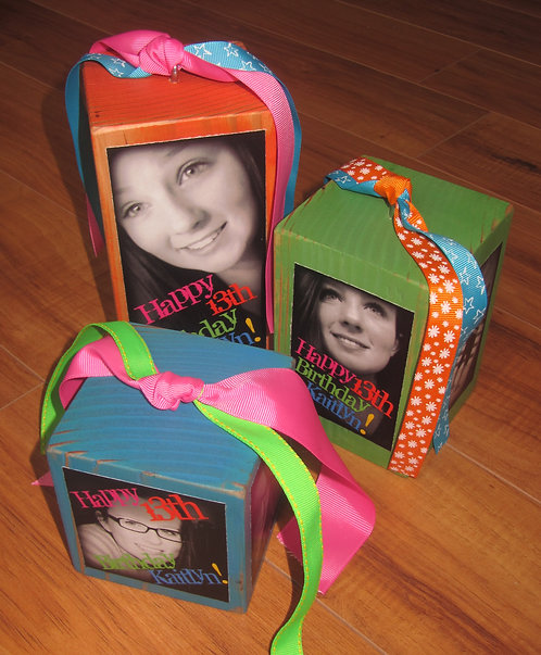 Photo CUBES- SET OF 3 Centerpiece