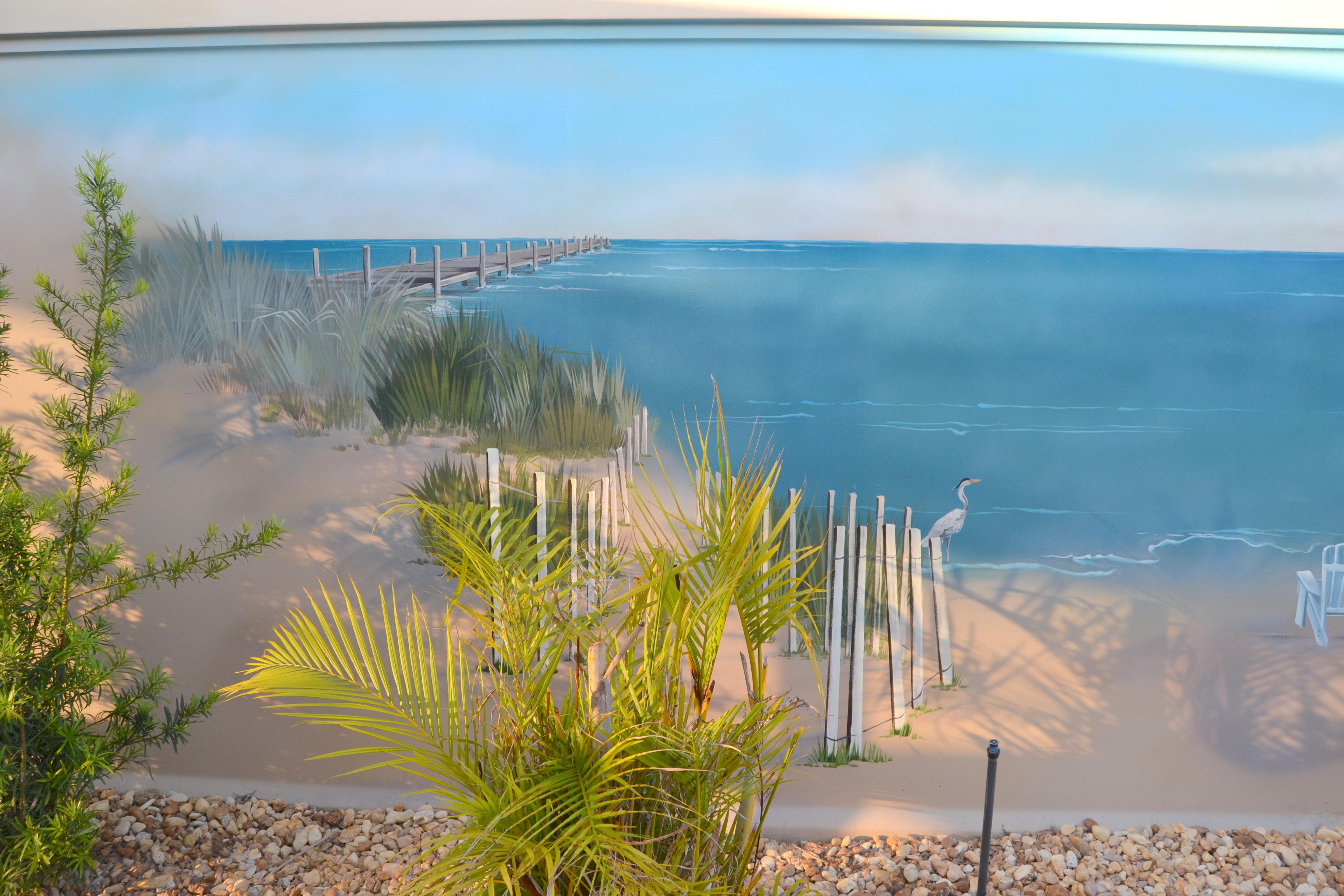 Beach Sand Dunes & Pier
