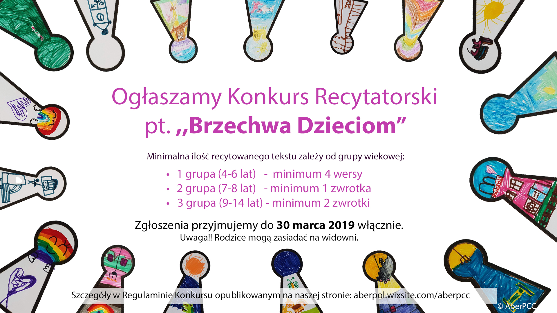 Konkurs Recytatorski Pt Brzechwa Dzieciom 30 Marca 2019