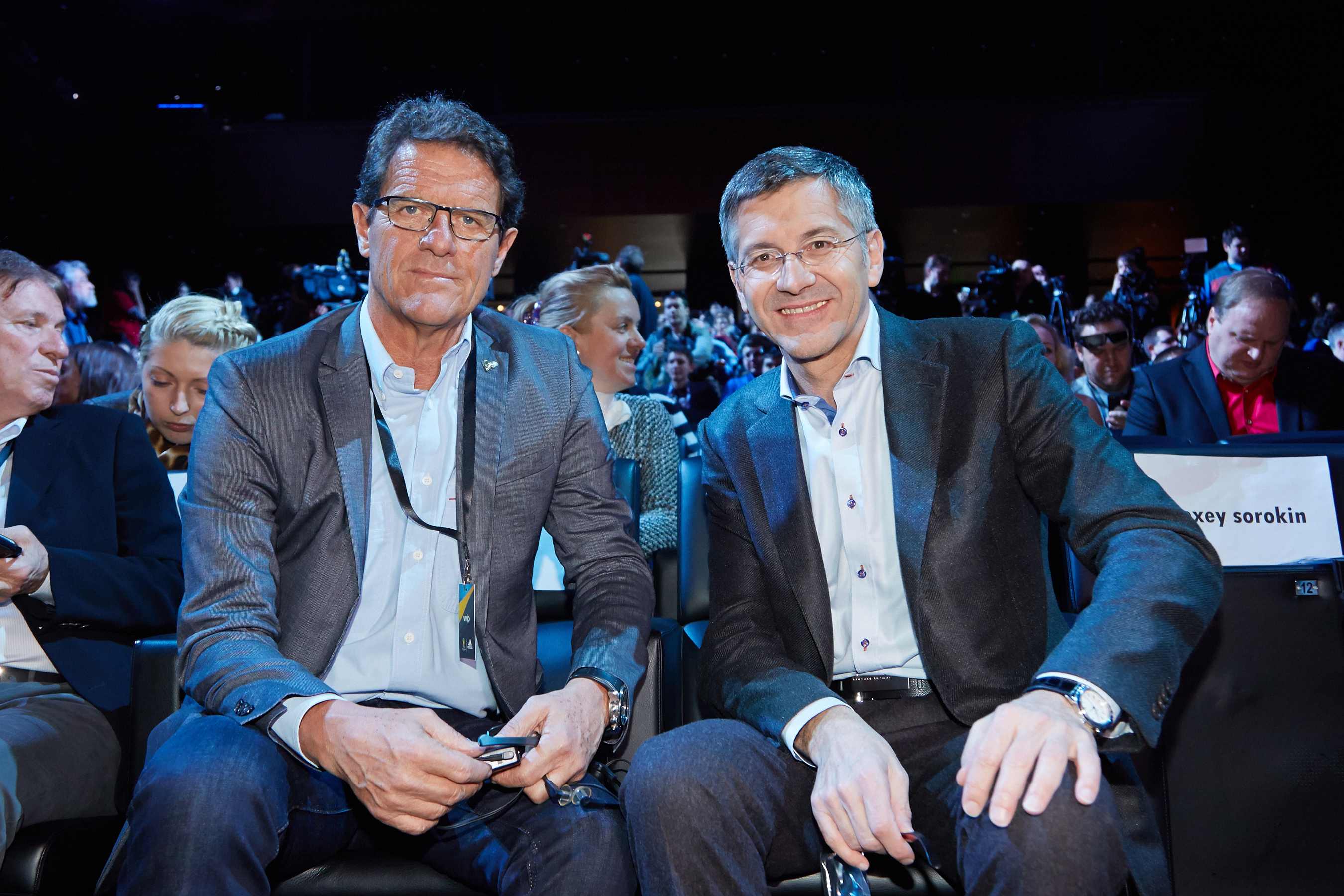 adidas Group CEO Herbert Hainer (R)