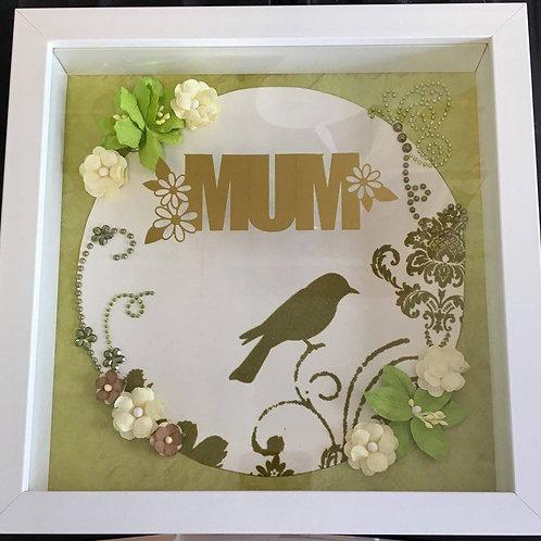 Green 'Mum' Box Frame