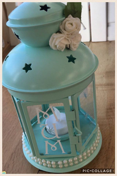 Mint Green Candle Lantern