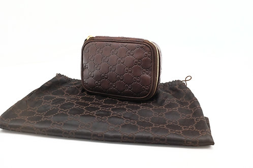 Gucci Cosmetic Pouch in Guccissima Leather