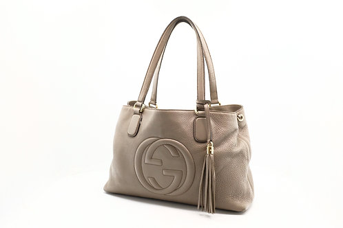 Gucci Soho Bag in Grey Leather
