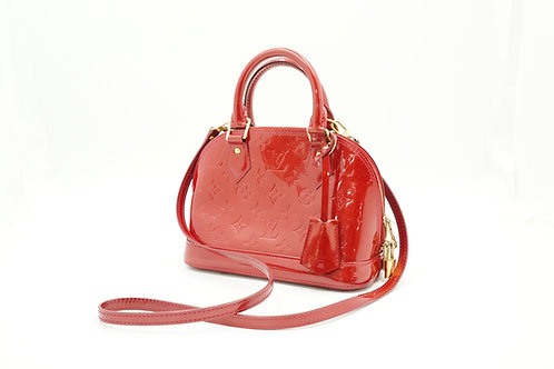 Louis Vuitton Alma BB in Pomme D'Amour Vernis Leather