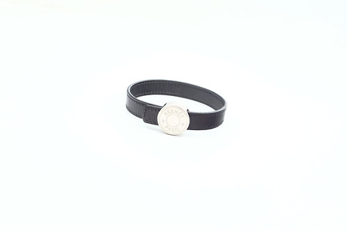 Hermes Bracelet in Leather with Silver-tone hardware
