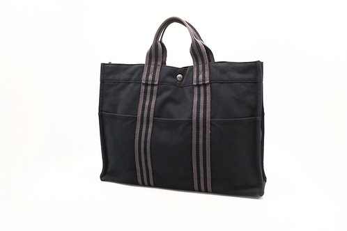 Hermes Fourre-tout MM Tote Bag in Black