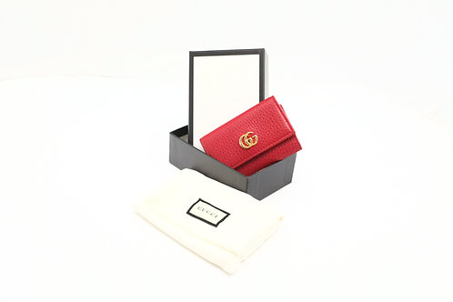Gucci GG Marmont Key Case in Red Leather
