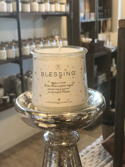Welcome New Baby Blessing Candle