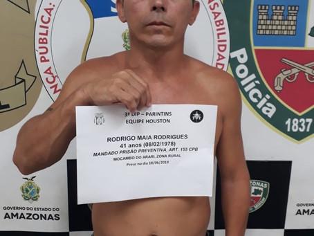 PC-AM CUMPRE MANDADO DE PRISÃO DE FORAGIDO HÁ MAIS DE SEIS ANOS DO DISTRITO FEDERAL