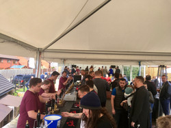The busy outside bar