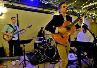 Nolan Koskela-Staples, Kayton Lane, Carlos Vizoso, and Thomas at the Hippodrome Jazz Series March 2 2020