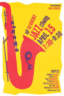 Promo art for the Hippodrome Jazz Series Spring 2019 - by Kevin Euerle
