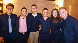 UF Student Combo at the Hippodrome Jazz Series 2019  (left to right) Ethan Nguyen, Nickolas Savedra, Thomas Allain, Erik Abernathy, Giselle San Filippo, and Chris King