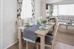 Dining area - freestanding dining table with 4 high-backed dining  chairs - flexible seating arrange