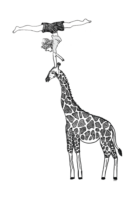 Strength and Balance on a Giraffe
