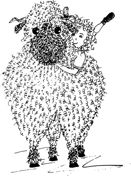 Fuzzy Sheep Snuggle Buddy