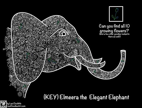 Elmeera the Elegant Elephant (key)