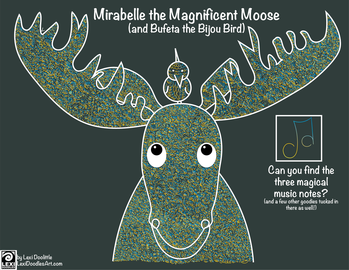 Mirabelle the Magnificent Moose - and Bufeta the Bijou Bird