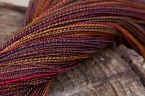 "Fingering Weight Organic Polwarth ""Hickory & Maple"""