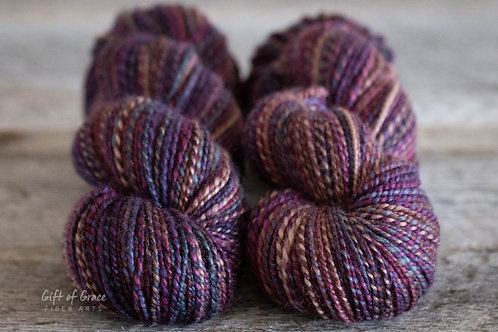 "2 Skeins Worsted Weight SW BFL ""Children of Time"""