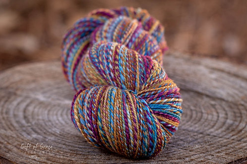 "Fingering Weight SW Merino/Merino/Silk ""Daybreak"""