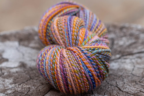 "HUGE Skein Worsted Weight Organic Polwarth ""Asters"""
