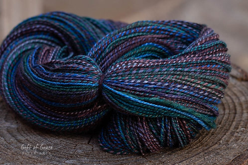 "DK/Light Worsted Weight Polwarth/Silk (60/40) ""Port Gamble Bay"""