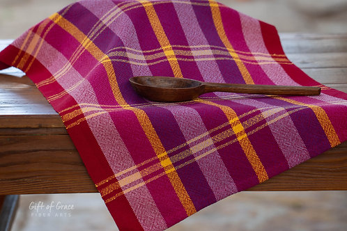 "3 Handwoven Cotton Kitchen Towel ""Blossom"" #3,5 and 11"