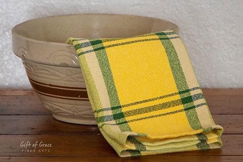 "8 Custom Handwoven Cotton Kitchen Towels ""Springtime"""