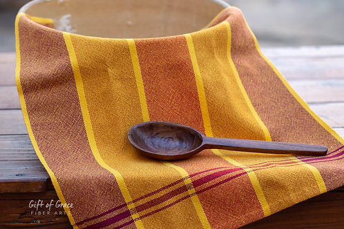 "Handwoven Cotton Kitchen Towel ""Gathering"" (ver. 2)"