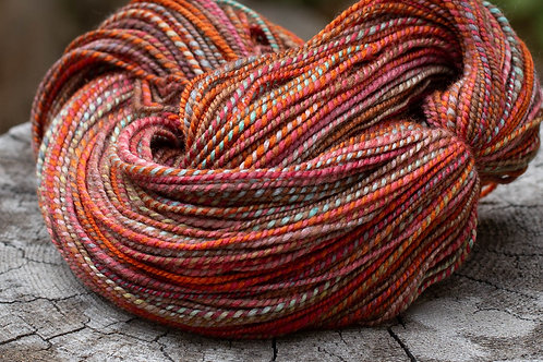 "Worsted Weight Polwarth/Silk ""Autumn Rain"" (skein #2)"