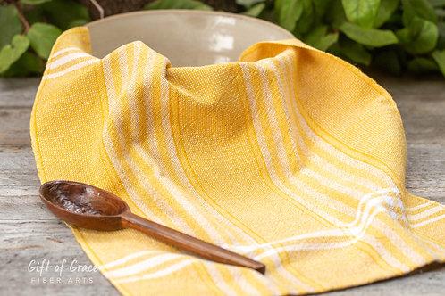 "1 Handwoven Cotton/Linen Kitchen Towels-""Sunlight"""