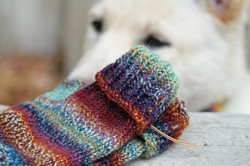 Cosmic Magpie Cuffed Mitts