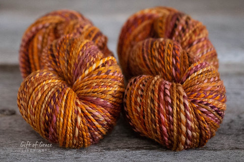 "2 Skeins Worsted Weight Polwarth ""Tiny Flicker"""